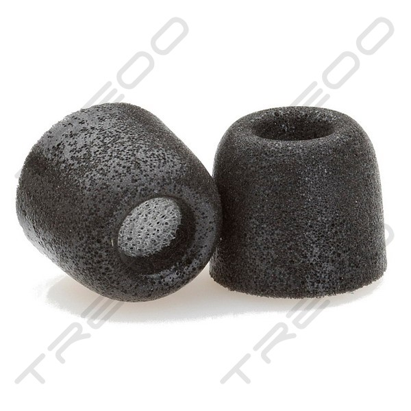 Comply Tx-200 Isolation Foam Eartips with WaxGuard (3-Pairs) - Black