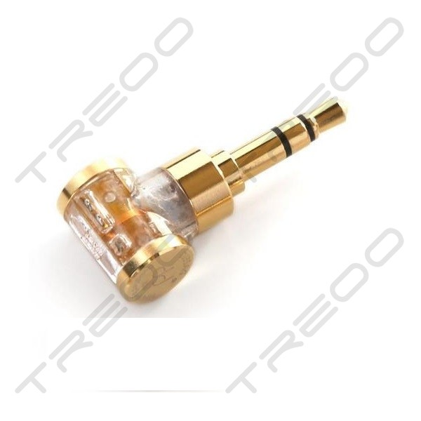 DD DJ35AG 2.5mm TRRS Balanced to 3.5mm TRS Right-angle Adapter