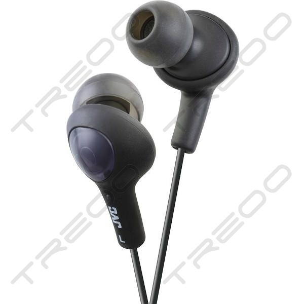JVC HA-FX5-B Gumy Plus In-Ear Earphone with Mic - Olive Black