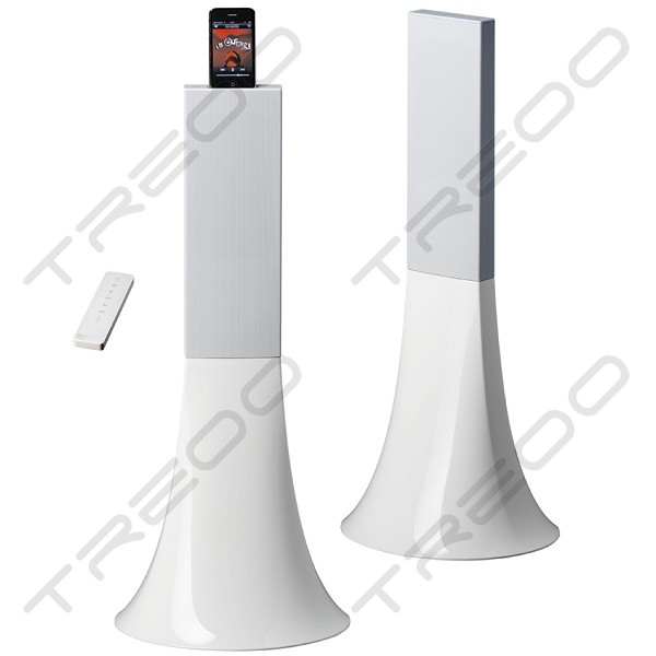 Parrot Zikmu by Starck Wireless Bluetooth Dock 2.0 Speaker System - Arctic White
