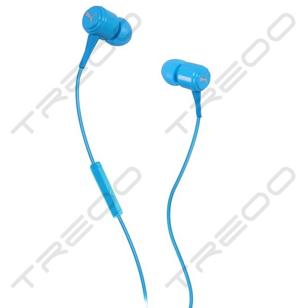 Puma Bread-N-Butter In-Ear Earphone with Mic - Cyan