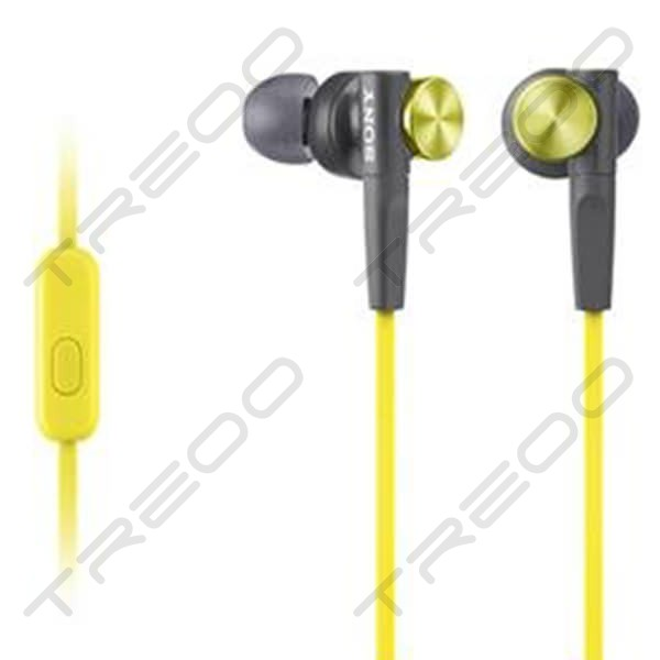 Sony MDR-XB50AP In-Ear Earphone with Mic - Yellow