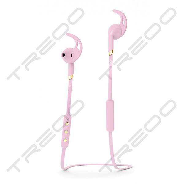 Sudio Tre Wireless Bluetooth On-Ear Earbud with Mic - Pink