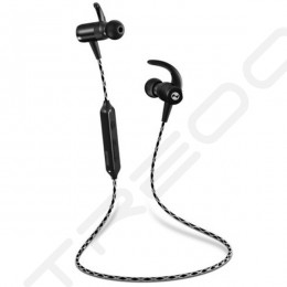 Purdio Flash SX35 Wireless Bluetooth In-Ear Earphone with Mic - Graphite Black