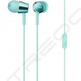 Sony MDR-EX150AP In-Ear Earphone with Mic - Light Blue