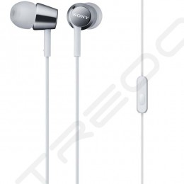 Sony MDR-EX150AP In-Ear Earphone with Mic - White