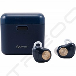 AVIOT TE-D01d True Wireless Bluetooth In-Ear Earphone with Mic - Navy Blue