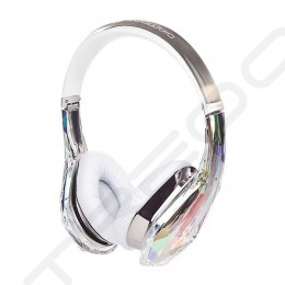 Monster Diamond Tears Edge On-Ear Headphone with Mic - Crystal White