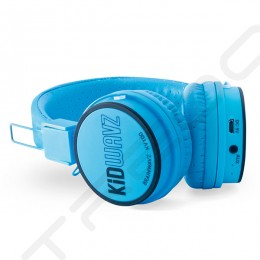 Brainwavz Kidwavz KV-100 Wireless Bluetooth On-Ear Headphone with Mic for Kids - Blue