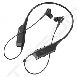 Audio-Technica ATH-ANC40BT Noise-Cancelling Neckband Wireless Bluetooth In-Ear Earphone with Mic