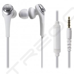 Audio-Technica ATH-CKS550iS Solid Bass In-Ear Earphone with Mic - White