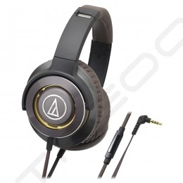 Audio-Technica ATH-WS770iS  Solid Bass Over-the-Ear Headphone with Mic - Gun Metal