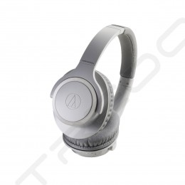 Audio-Technica ATH-SR30BT Wireless Bluetooth Over-the-Ear Headphone with Mic - Gray