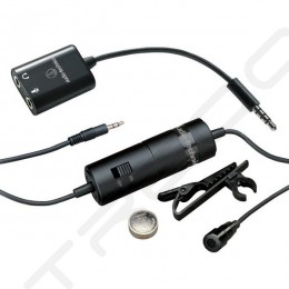 Audio-Technica AT-ATR3350iS Omnidirectional Lavalier Microphone for DSLR & Smartphones