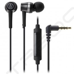 Audio-Technica ATH-CKR30iS In-Ear Earphone with Mic - Black