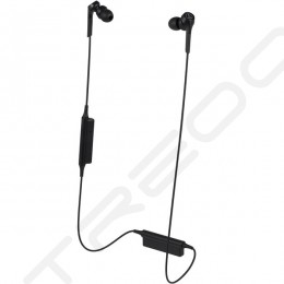 Audio-Technica ATH-CKS550XBT Solid Bass Wireless Bluetooth In-Ear Earphone with Mic - Black