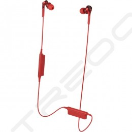 Audio-Technica ATH-CKS550XBT Solid Bass Wireless Bluetooth In-Ear Earphone with Mic - Red