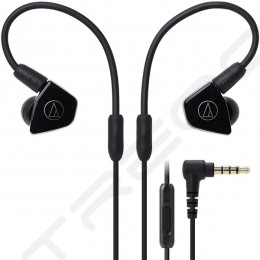 Audio-Technica ATH-LS50iS 2-Driver In-Ear Earphone with Mic - Black