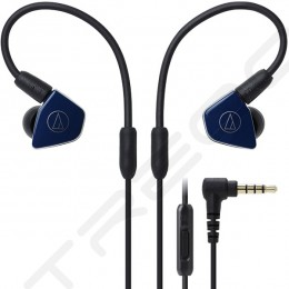 Audio-Technica ATH-LS50iS 2-Driver In-Ear Earphone with Mic - Navy