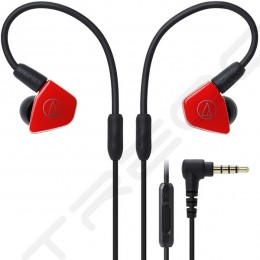 Audio-Technica ATH-LS50iS 2-Driver In-Ear Earphone with Mic - Red