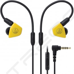 Audio-Technica ATH-LS50iS 2-Driver In-Ear Earphone with Mic - Yellow
