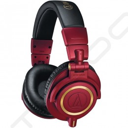 Audio-Technica ATH-M50xRD Professional Studio Monitor Over-the-Ear Headphone (Red Limited Edition)