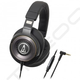 Audio-Technica ATH-WS1100iS Solid Bass Over-the-Ear Headphone with Mic