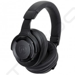 Audio-Technica ATH-WS990BT Noise-Cancelling Wireless Bluetooth Over-the-Ear Headphone with Mic - Black