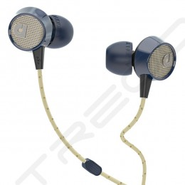 AudioFly AF56M In-Ear Earphone with Mic - Blue Tweed
