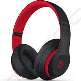 Beats Studio³ Wireless Bluetooth Noise-Cancelling Over-the-Ear Headphone with Mic - Defiant Black-Red