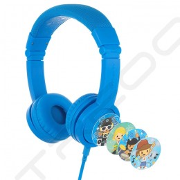 BuddyPhones Explore+ On-Ear Headset with Mic for Kids - Cool Blue