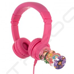 BuddyPhones Explore+ On-Ear Headset with Mic for Kids - Rose Pink