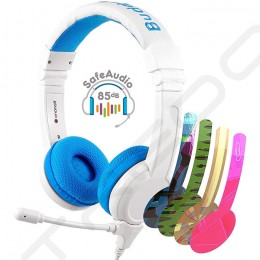 BuddyPhones School+ On-Ear Headset with Mic for Kids - Blue