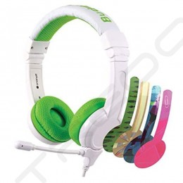 BuddyPhones School+ On-Ear Headset with Mic for Kids - Green