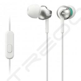Sony MDR-EX110AP In-Ear Earphone with Mic - White