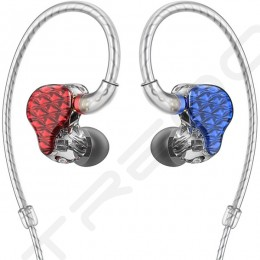 FiiO FA7 4-Driver In-Ear Earphone - Blue/Red