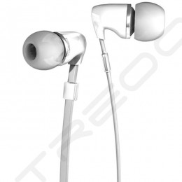 Fischer Audio Thunderstone In-Ear Earphone with Mic - White