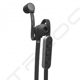 JAYS a-JAYS Four+ In-Ear Earphone with Mic - Black/Silver