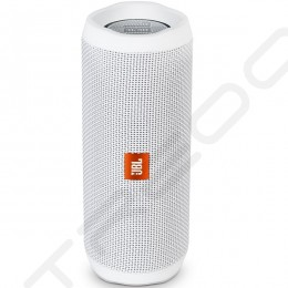 JBL Flip 4 Wireless Bluetooth Portable Speaker - White