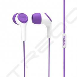 Koss KEB15i In-Ear Earphone with Mic - Purple