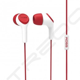 Koss KEB15i In-Ear Earphone with Mic - Red