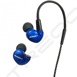 Kinera BD005 2-Driver Hybrid In-Ear Earphone with Mic - Blue