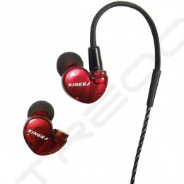 Kinera BD005 2-Driver Hybrid In-Ear Earphone with Mic - Red
