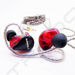 Kinera H3 3-Driver Hybrid In-Ear Earphone - Red