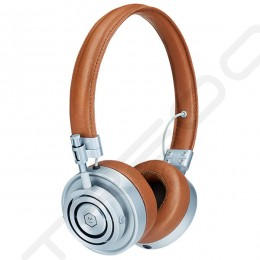 Master & Dynamic MH30 On-Ear Headphone - Silver/Brown