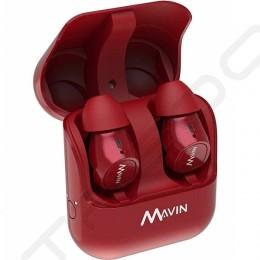 Mavin Air-X True Wireless Bluetooth In-Ear Earphone with Mic - Red