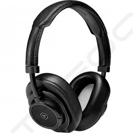 Master & Dynamic MW50+ Wireless Bluetooth Over-the-Ear Headphone with Mic - Black Metal / Black Leather