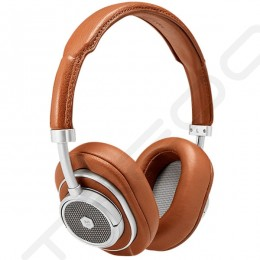 Master & Dynamic MW50+ Wireless Bluetooth Over-the-Ear Headphone with Mic - Silver Metal / Brown Leather