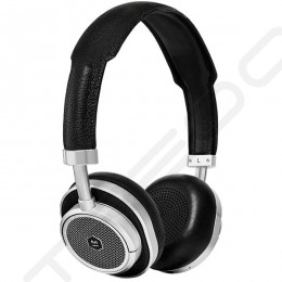 Master & Dynamic MW50+ Wireless Bluetooth On-Ear Headphone with Mic - Silver Metal / Black Leather