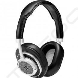 Master & Dynamic MW50+ Wireless Bluetooth Over-the-Ear Headphone with Mic - Silver Metal / Black Leather